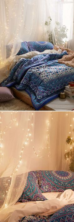 New room decor boho hippie bedspreads 28 Ideas Dream Rooms, Dream Bedroom, Home Bedroom, Bedroom Decor, Bedroom Colors, Bedroom Furniture, Bedrooms, Home And Deco, Bedroom Inspo