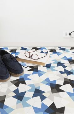 Love love love!!! Blue statement tiles. MUT Design; Encaustic 'Keidos' Tiles for Enticdesigns, 2013.