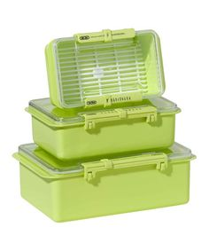 Look at this #zulilyfind! Green Snap 'n' Seal Three-Piece Container Set by OGGI #zulilyfinds