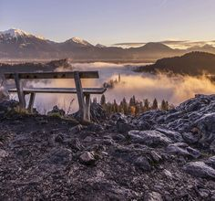 Sunrise at lake Bled in Slovenia. captured from Ojstrica, one of the most popular locations to take photographs of Bled  by Aleš Krivec
