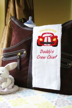 Race Car Burp Cloth Baby Race Car by WithLoveBoutiqueAL on Etsy, $10.00