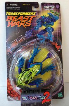 Transformers Beast Wars SPITTOR Predacon Sealed MOSC Hasbro Transmetals New 1999