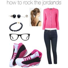 how to rock the j's by aero1blue on Polyvore featuring polyvore fashion style Polo Ralph Lauren Fat Face M&Co NIKE Muse France Luxe