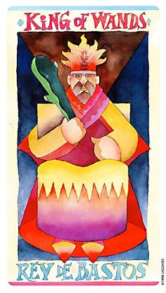 King of Wands - Napo tarot - Tarots - Divinatory arts - Alchimiste.fr: esoteric shop bookstore on line