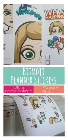 Easily create your own bitmoji planner stickers with goodstuff mama's step by step bitmoji planner sticker tutorial - custom images for your planner! via @goodstuffmama