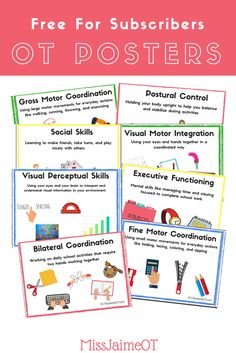 Back to School Occupational Therapy Poster, perfect for bulletin boards, activity packet covers, or parent information!
