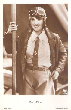 vintage everyday: Miss America of Aviation – 20 Vintage Photos of Ruth Elder as a Pilot in the 1920s