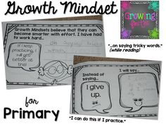 Growth Mindset Interactive Book Freebie