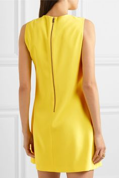 Alice Olivia - Coley Crepe Mini Dress - Yellow - US10