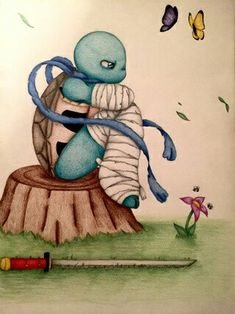 I love drawing butterfly's 🤗 and dramatic, flowy mask tails 👍🏻 Teenage Mutant Ninja Turtles 2012, Cartoon Rose, Leonardo Tmnt, Tmnt 2012, Cute Posts, Star Wars Jedi, Lunar Chronicles, Manga Illustration, Love Drawings