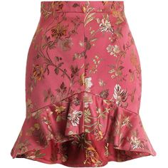 ZIMMERMANN Cavalier Flounce Skirt featuring polyvore women's fashion clothing skirts bottoms saias zimmermann jacquard skirt flouncy skirt floral printed skirt floral skirts frilly skirt