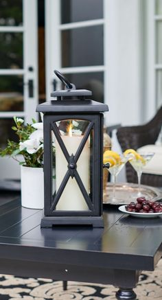 With a look befitting a 19th century New England carriage house, our cast-aluminum Normandy Lantern delivers refined accent lighting at an exceptional price.  | Frontgate: Live Beautifully Outdoors