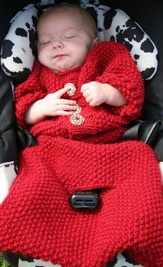 Baby Bunting knitting pattern. PDF Download von AmandaLilleyDesigns