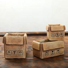 Coreia do sul carnudas mini vaso Retro imitação de artes e artesanato de cerâmica vaso de flores caixa de cimento em Pote para flores de Home & Garden no AliExpress.com | Alibaba Group