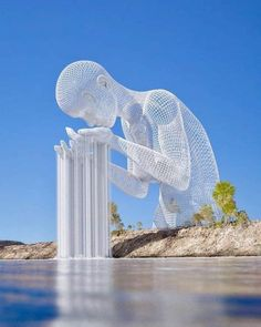 Some people drink from the fountain of knowledge, others jus 3d Drawings, Outdoor Art, Land Art, Surreal Art, Oeuvre D'art, Belle Photo, Installation Art, Unique Art, Sculpture Art
