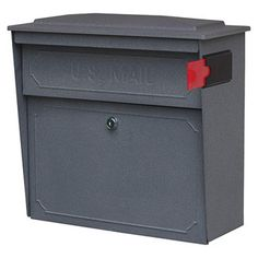 Found it at Wayfair - Mail Boss Townhouse Wall Mount Locking Mailbox - Color: Granitehttp://www.wayfair.com/Mail-Boss-Townhouse-Wall-Mount-Locking-Mailbox-717-MLBS1006.html?refid=SBP