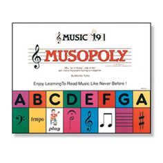 Musopoly turns learning music theory and reading into a creative, fun board game.  Musopoly - Young Musicians, Inc.