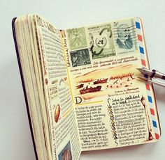 i love journals like this... only if i could keep up with one
