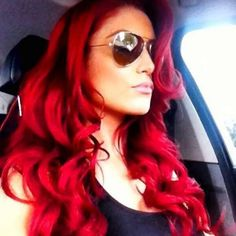 WWE DIVA EVA MARIE. PROUD TO SAY MY COUSIN DOES HER HAIR. HE IS AMAZING.