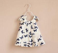 Bailey Butterfly Dress-butterfly, white, sun dress, dress, blue