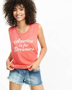 Express One Eleven America Is For Dreamers Tank | Express