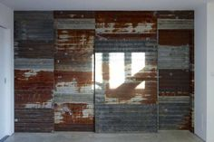 The flattened corrugated wall built by Ben Coode-Adams with David Howe and Nicol Wilson: Blackwater Polytechnic