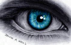 Realistic Eye Drawing by Denise A. Wells by ♥Denise A. Wells♥