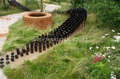 .ψ.Ψψψ.. The Badger Beer Garden : Flemons Warland Design : Hampton Court Flower Show 2012