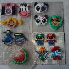 Perler bead crafts by hamabeadssby, Mario & Luigi!