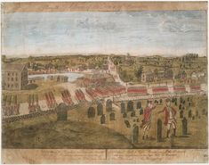 Concord events and Battle of Concord engraved by Amos Doolittle in 1775