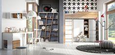 Łóżko Mroom na antresoli Treehouse białe - Little Room