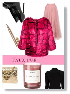 """Faux fur"" by lucifuk on Polyvore featuring Misha Nonoo, Chanel, Yves Saint Laurent, Little Mistress and Byredo"