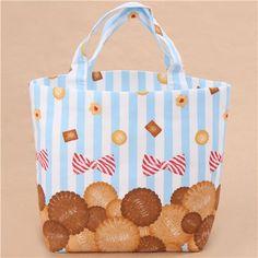 light blue white stripe biscuit bow oxford fabric bag http://www.modes4u.com/en/kawaii/p36750_light-blue-white-stripe-biscuit-bow-oxford-fabric-from-Japan.html