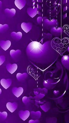 Purple Flowers Wallpaper, Bling Wallpaper, Love Wallpaper, Colorful Wallpaper, Black And Purple Wallpaper, Pretty Backgrounds, Pretty Wallpapers, Wallpaper Backgrounds, Heart Iphone Wallpaper