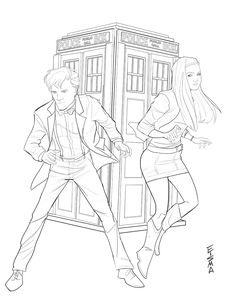 Dr. Who and Amy Pond by Supajoe on deviantART