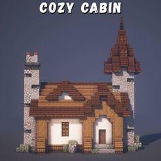 Minecraft Farm, Minecraft Cottage, Easy Minecraft Houses, Minecraft Plans, Minecraft House Designs, Minecraft Decorations, Minecraft Construction, Amazing Minecraft, Minecraft Tutorial