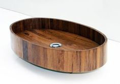 Natural Eliptic Wooden sink by BubingaWoodDesign  $1250