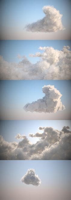 We have been experimenting with making clouds within 3DS Max without any external plugins - we did some on our Jack Mach trailer but Chris decided to explore and play a bit further... The first set...