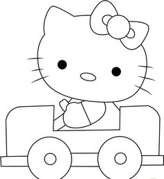 Hello Kitty Bow Coloring Pages