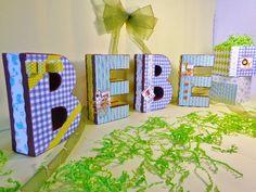 Stamping Paper: LETRAS 3D EN TU BABY