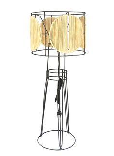 Honoré Décoration - Luminaires & miroirs - Lampe Pablo Raphia rond