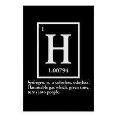 hydrogen - a gas which turns into people