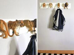 DIY-Anleitung: Garderobe aus Tierfiguren selber machen via DaWanda.com