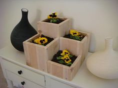 Flower planter garden flower pot wood by RedCedarWoodcraft on Etsy, $49.00