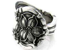 Spoon Ring Orange Blossom all sizes available Art Nouveau style, from 1910