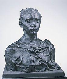 Camille Claudel, Paul Claudel à seize ans, sculpture (bronze), 1895, Musée des Augustins, Toulouse.