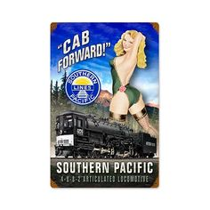 Cab Forward Vintage Metal Sign