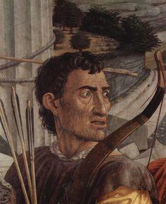 Saint Sébastien / Archer détail Mantegna Andrea Louvre