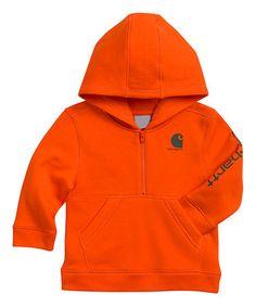 Another great find on #zulily! Blaze Orange Logo Fleece Pullover Hoodie - Toddler #zulilyfinds