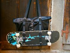 Skater's Leather Bag Laptop Bag Students bag by 74streetbags